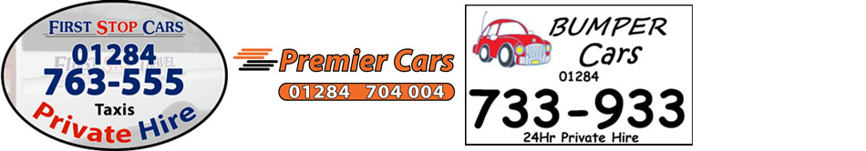 Logos for First Stop Cars, Premier Cars and Bumper Cars